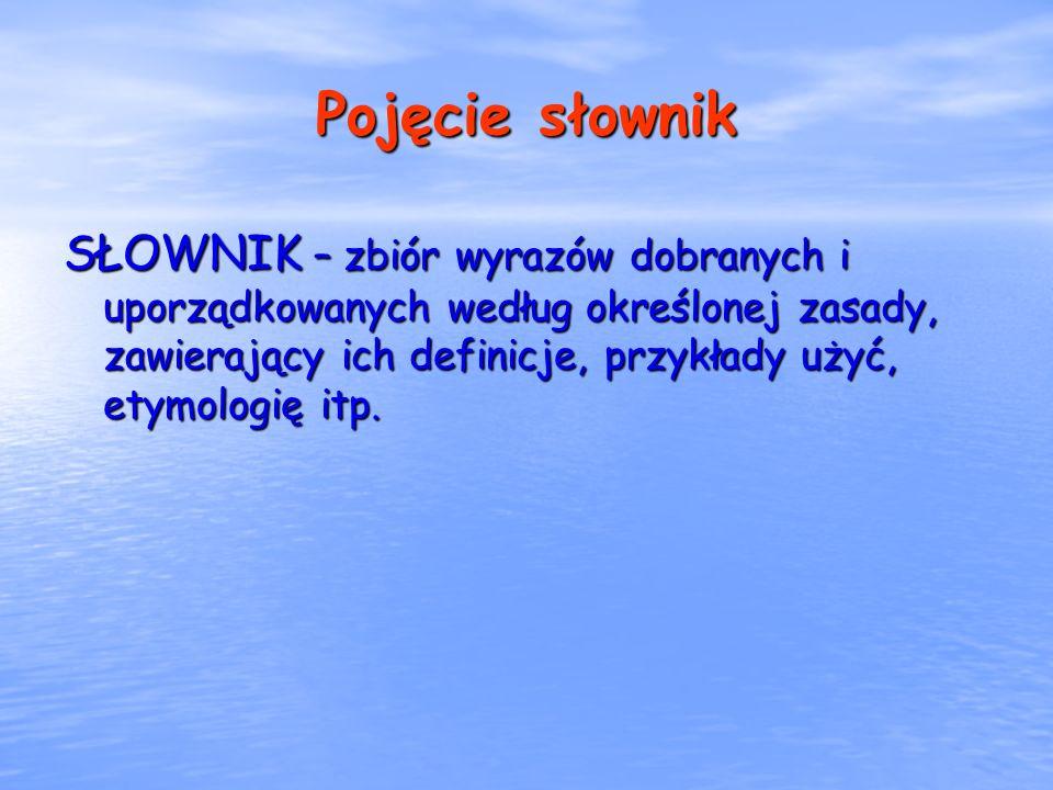 Pojęcie słownik
