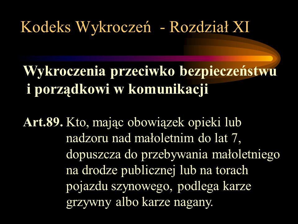 Kodeks Wykroczeń - Rozdział XI