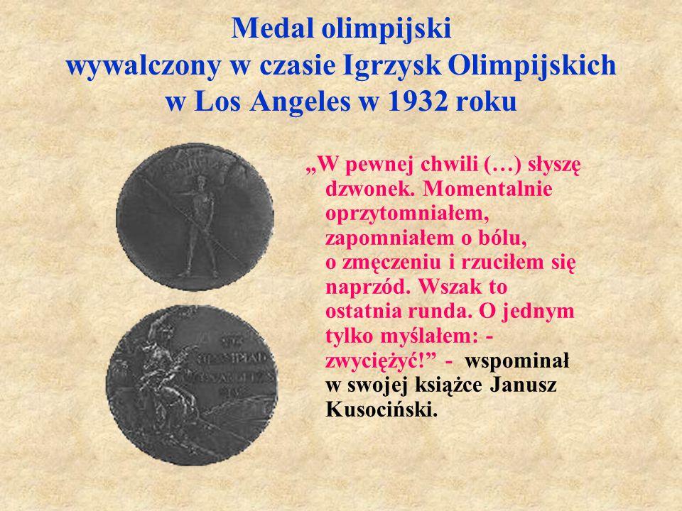 Medal olimpijski wywalczony w czasie Igrzysk Olimpijskich w Los Angeles w 1932 roku
