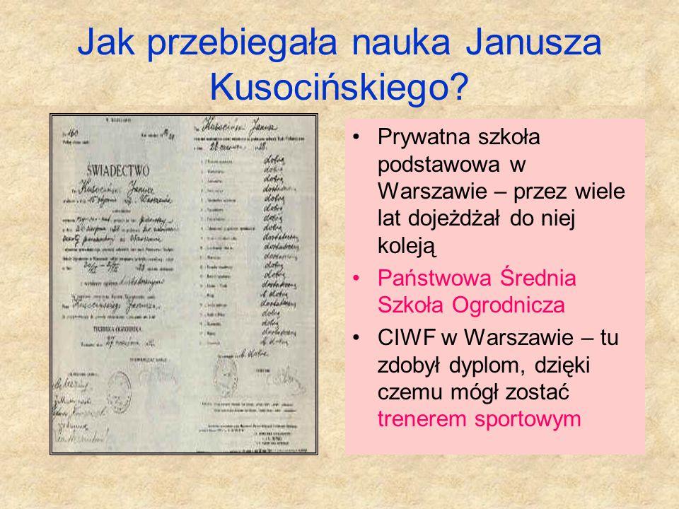 Jak przebiegała nauka Janusza Kusocińskiego