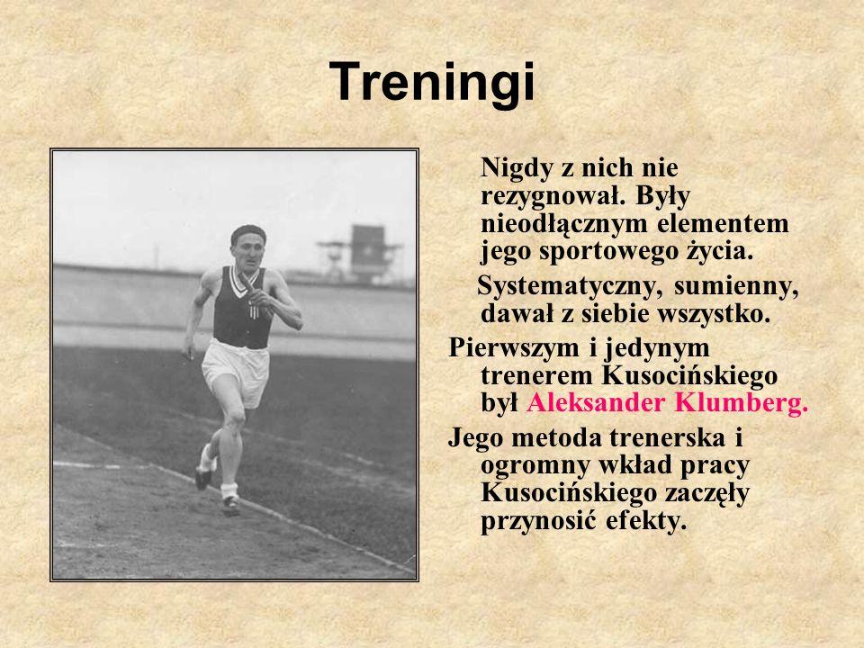 Treningi Nigdy z nich nie rezygnował. Były nieodłącznym elementem jego sportowego życia. Systematyczny, sumienny, dawał z siebie wszystko.