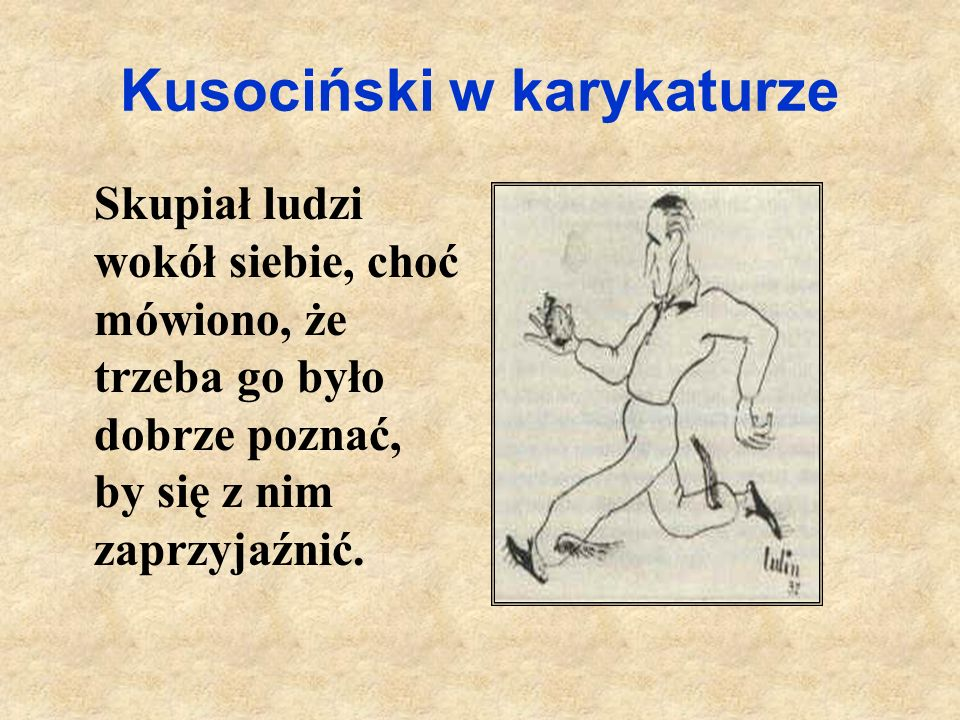 Kusociński w karykaturze