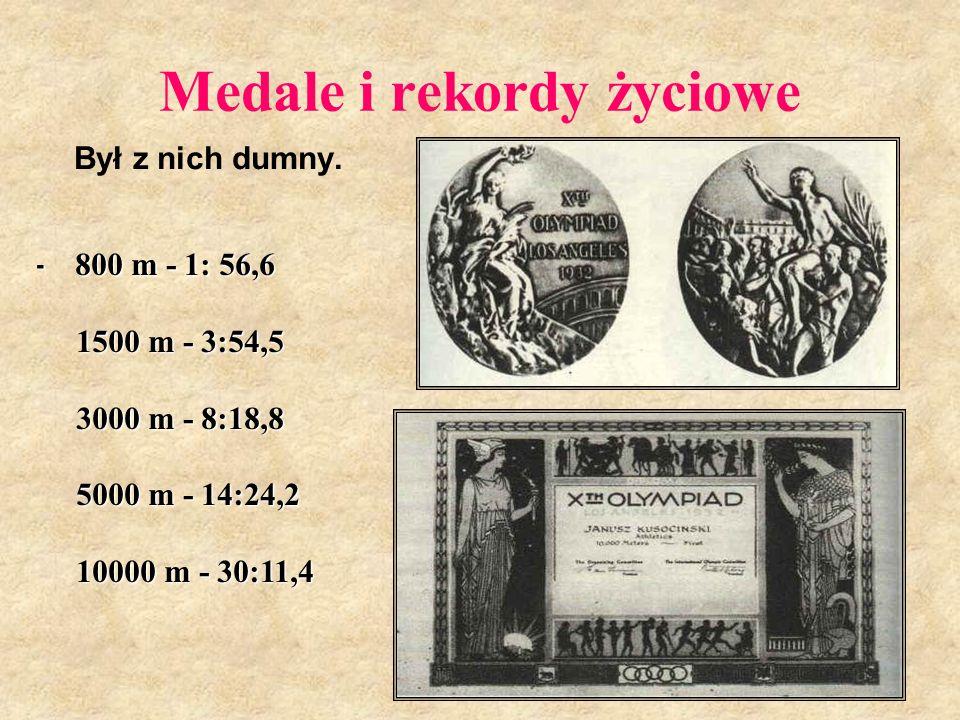 Medale i rekordy życiowe