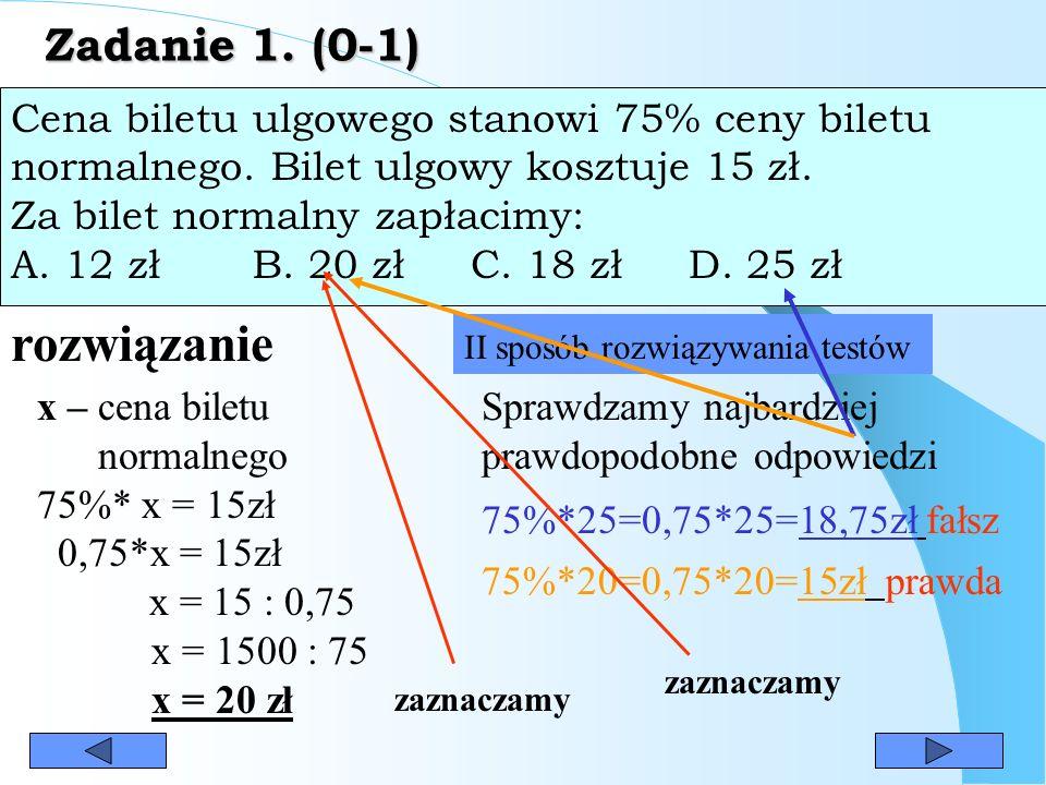 rozwiązanie Zadanie 1. (0-1)