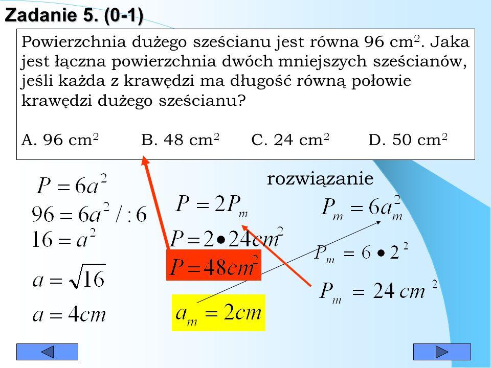 Zadanie 5. (0-1) rozwiązanie