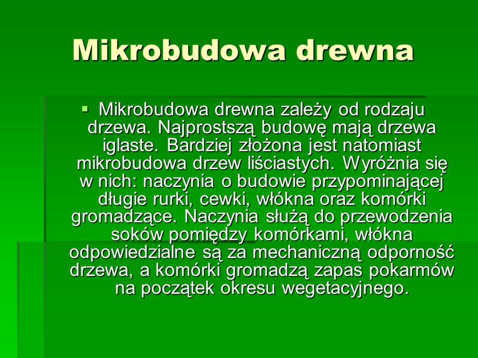 Mikrobudowa drewna
