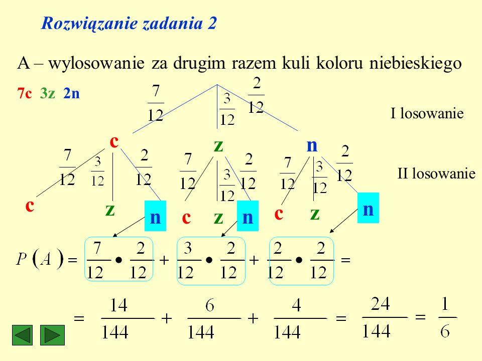 c z n c z n c z n c z n Rozwiązanie zadania 2