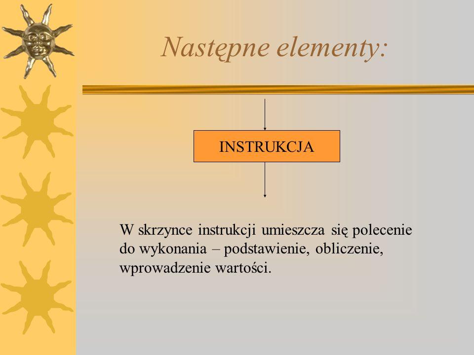Następne elementy: INSTRUKCJA