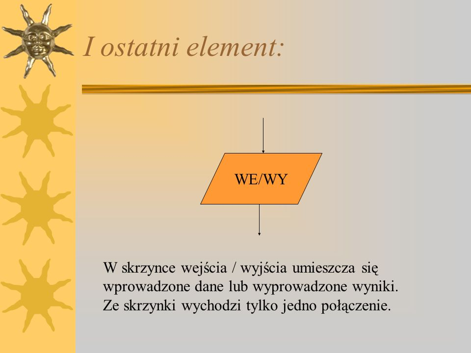 I ostatni element: WE/WY