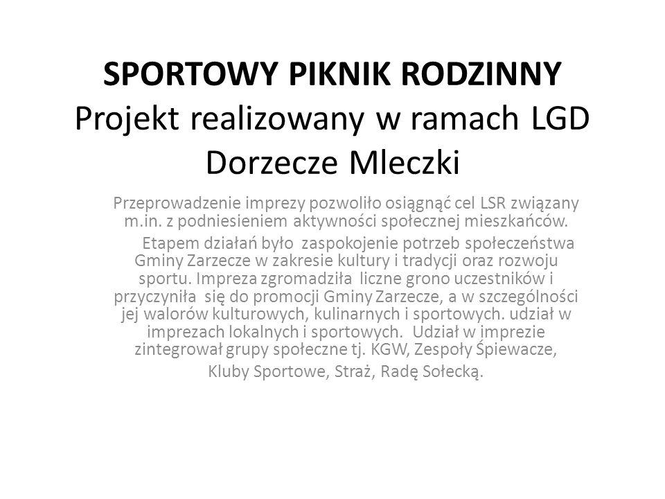 Kluby Sportowe, Straż, Radę Sołecką.