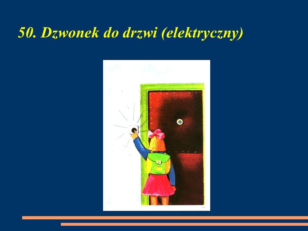 50. Dzwonek do drzwi (elektryczny)