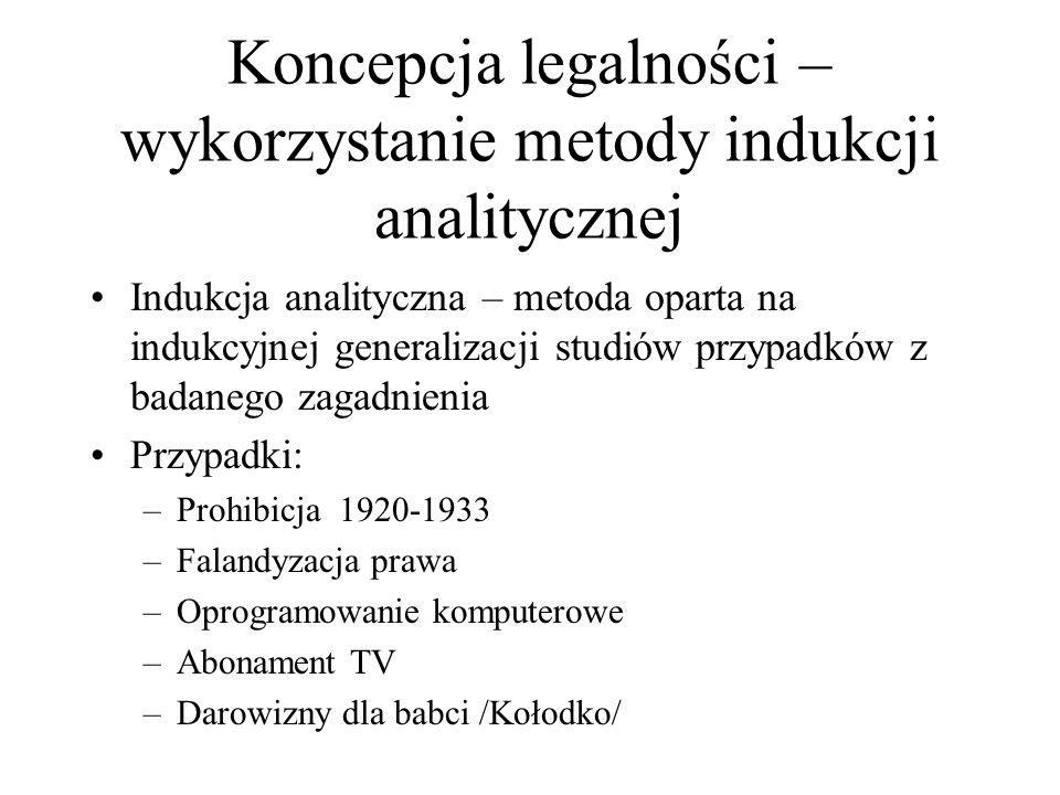 Koncepcja legalności – wykorzystanie metody indukcji analitycznej