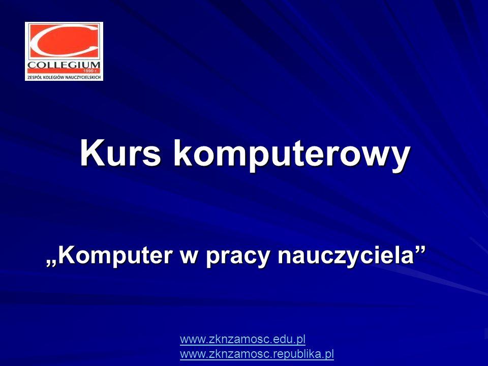 """""""Komputer w pracy nauczyciela"""