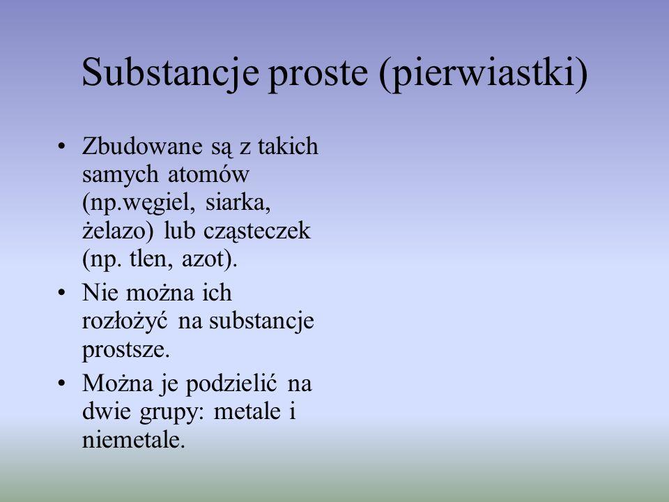 Substancje proste (pierwiastki)
