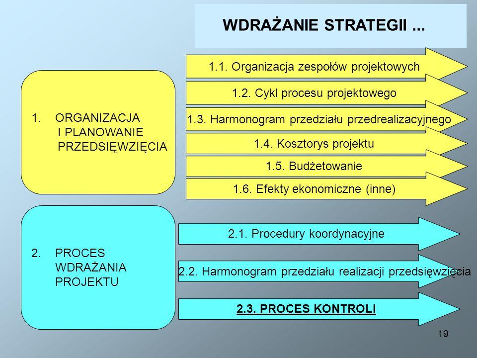 WDRAŻANIE STRATEGII ... 1.1. Organizacja zespołów projektowych