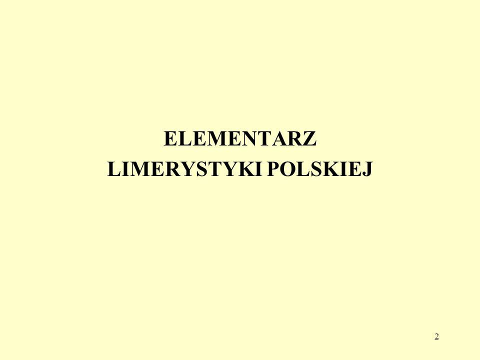 ELEMENTARZ LIMERYSTYKI POLSKIEJ