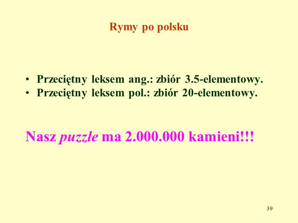 Nasz puzzle ma 2.000.000 kamieni!!! Rymy po polsku