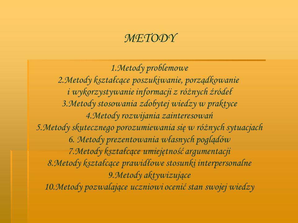 METODY 1.Metody problemowe