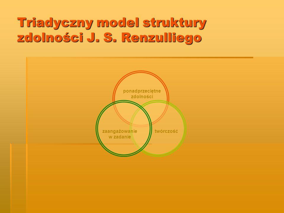 Triadyczny model struktury zdolności J. S. Renzulliego