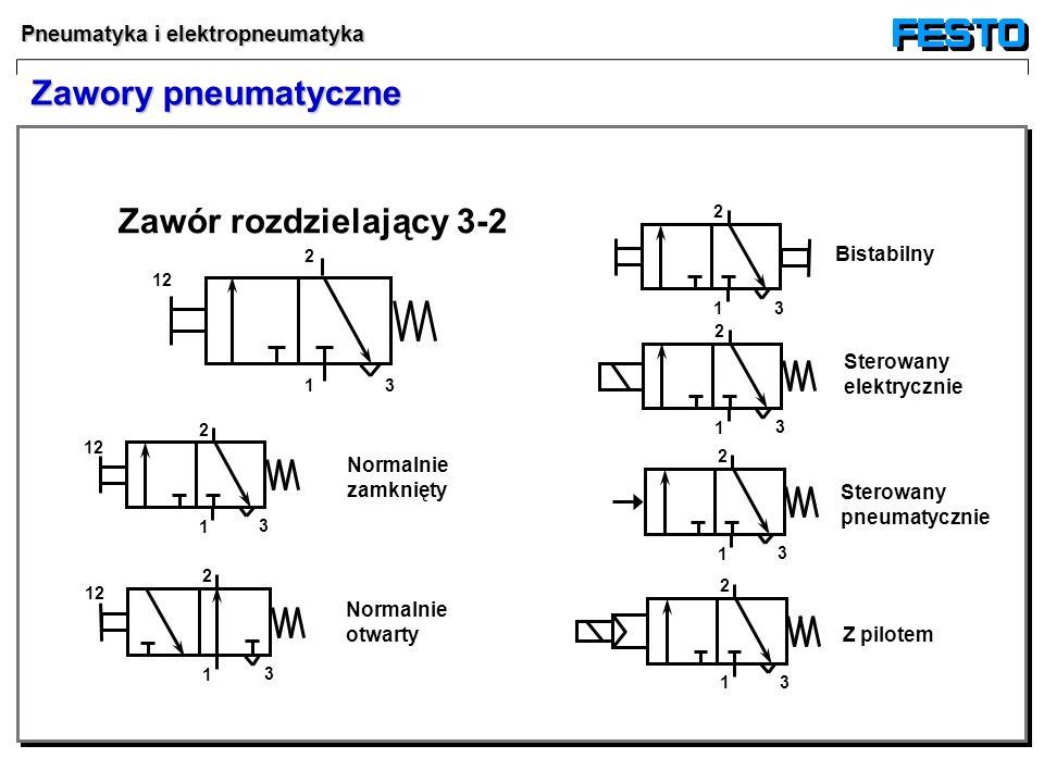 Zawory pneumatyczne Zawór rozdzielający 3-2 Bistabilny