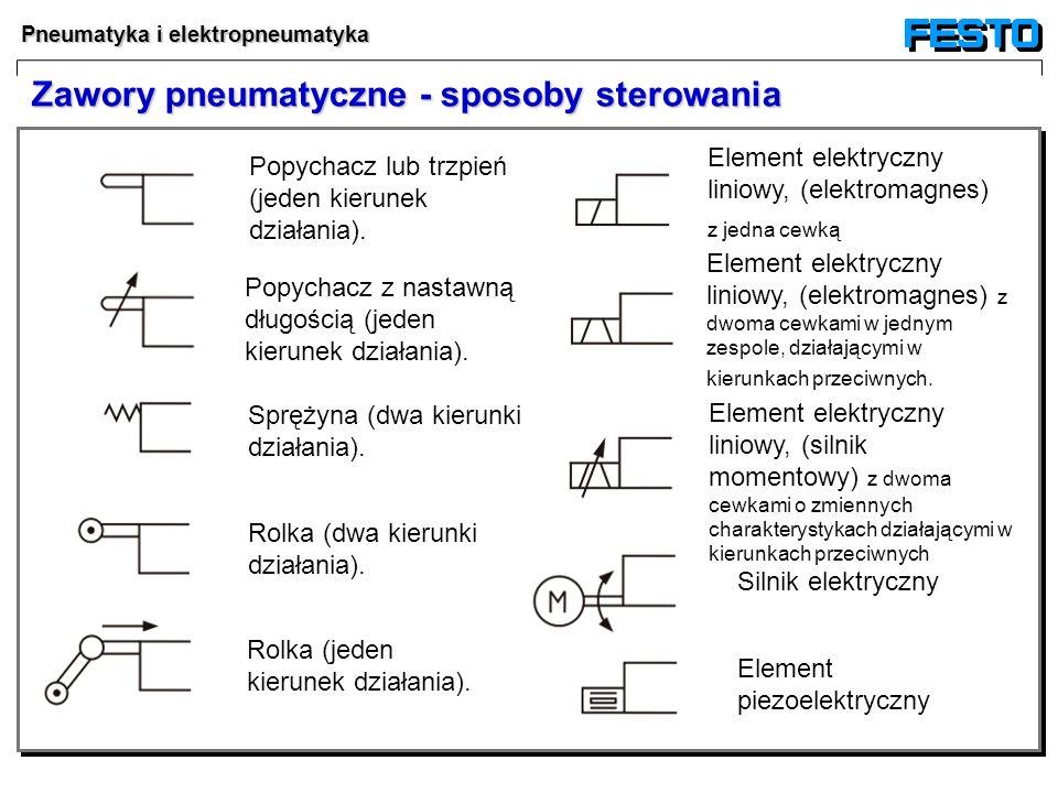 Zawory pneumatyczne - sposoby sterowania