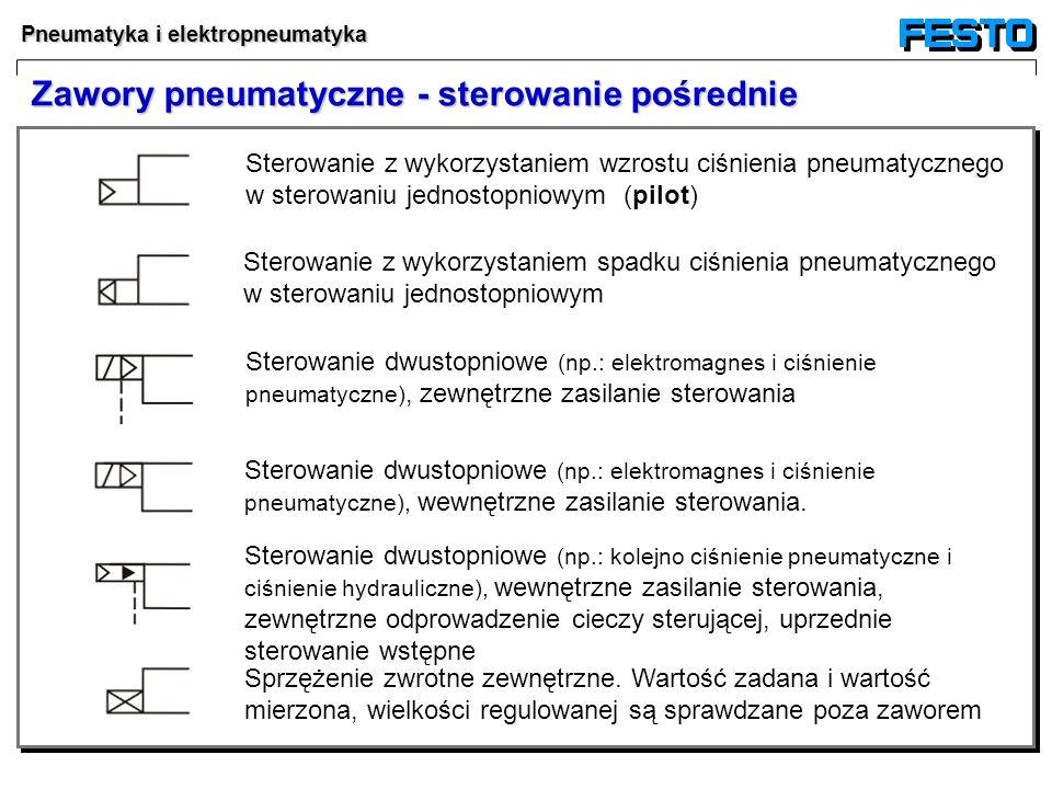Zawory pneumatyczne - sterowanie pośrednie