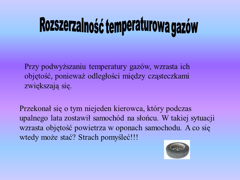 Rozszerzalność temperaturowa gazów