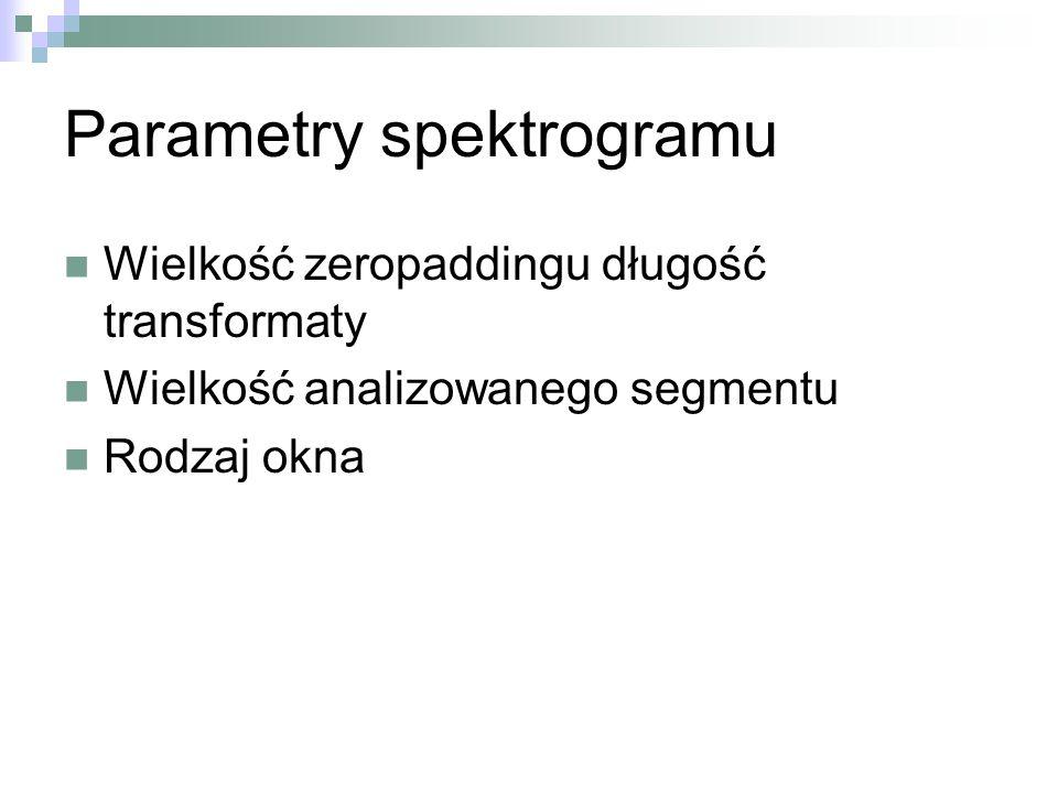 Parametry spektrogramu
