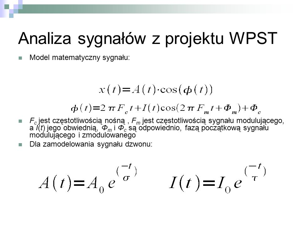 Analiza sygnałów z projektu WPST
