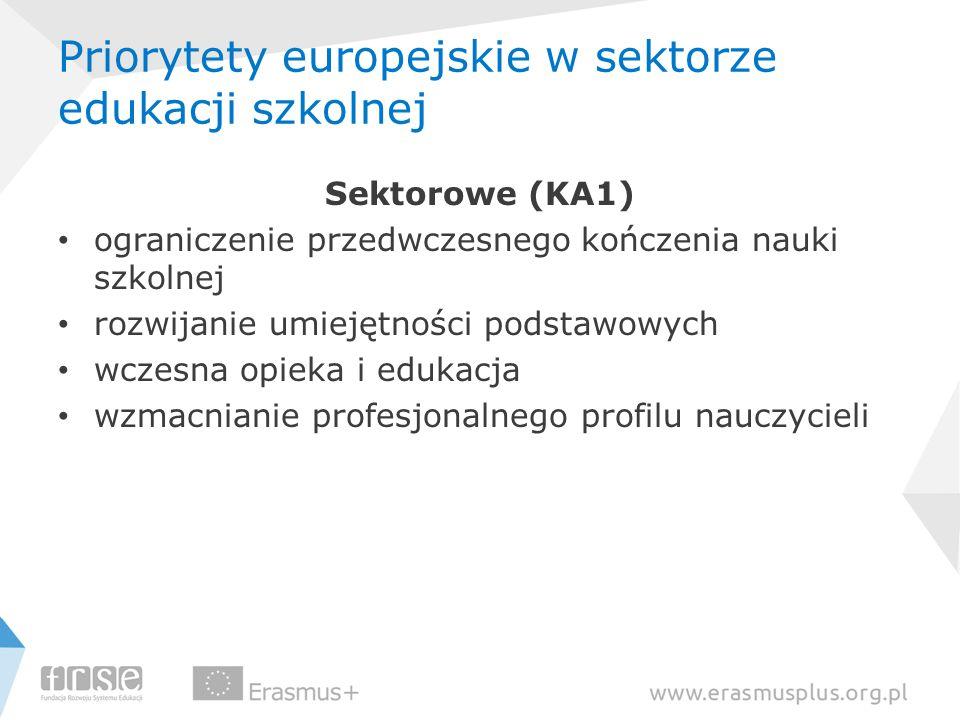 Priorytety europejskie w sektorze edukacji szkolnej