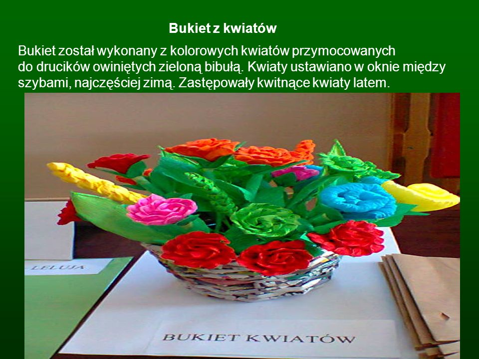 Bukiet z kwiatów