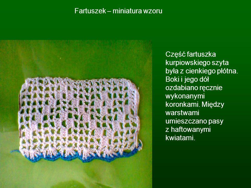 Fartuszek – miniatura wzoru