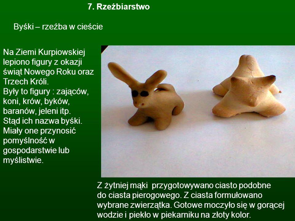 7. Rzeźbiarstwo Byśki – rzeźba w cieście.