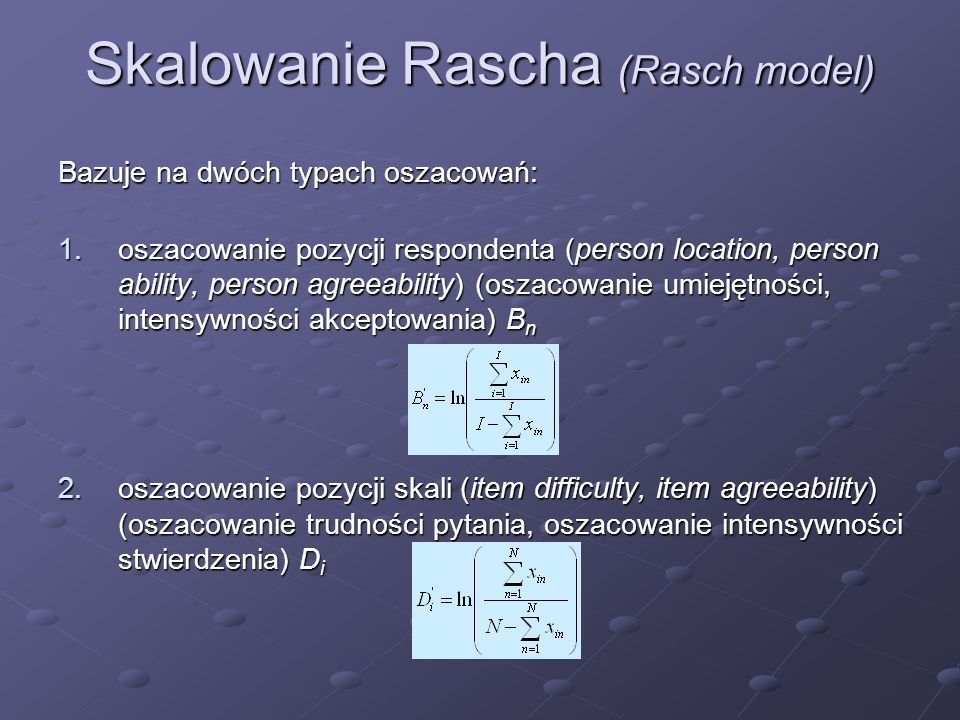 Skalowanie Rascha (Rasch model)