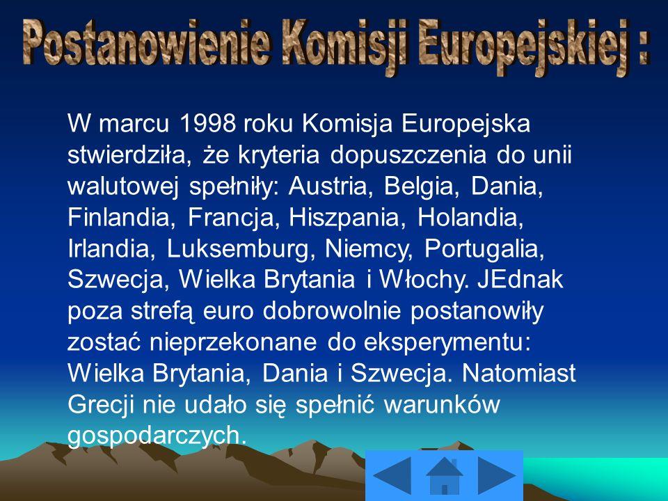 Postanowienie Komisji Europejskiej :