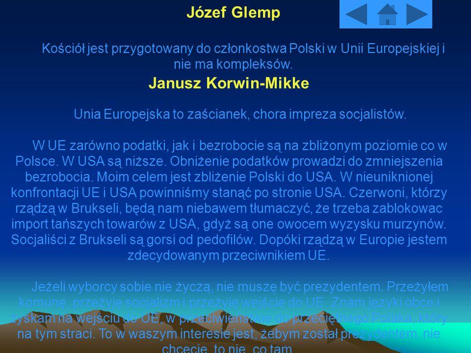 Józef Glemp Janusz Korwin-Mikke