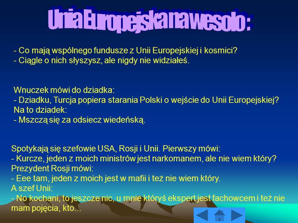 Unia Europejska na wesoło :
