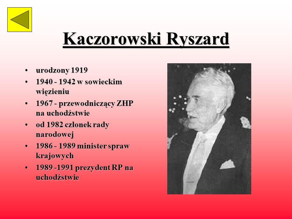 Kaczorowski Ryszard urodzony 1919 1940 - 1942 w sowieckim więzieniu