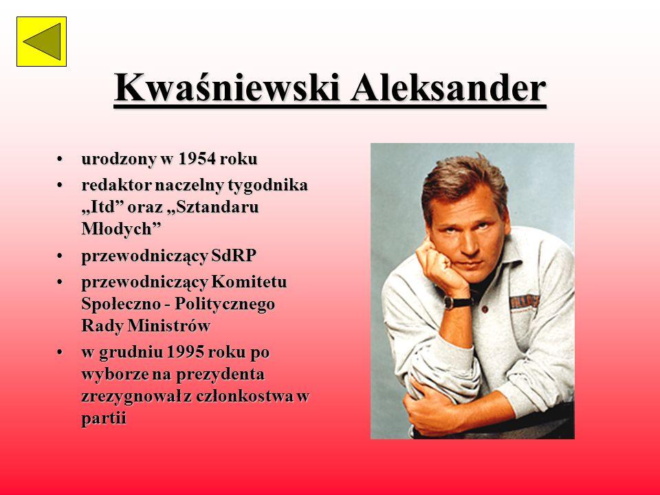 Kwaśniewski Aleksander