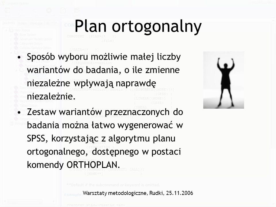 Warsztaty metodologiczne, Rudki, 25.11.2006