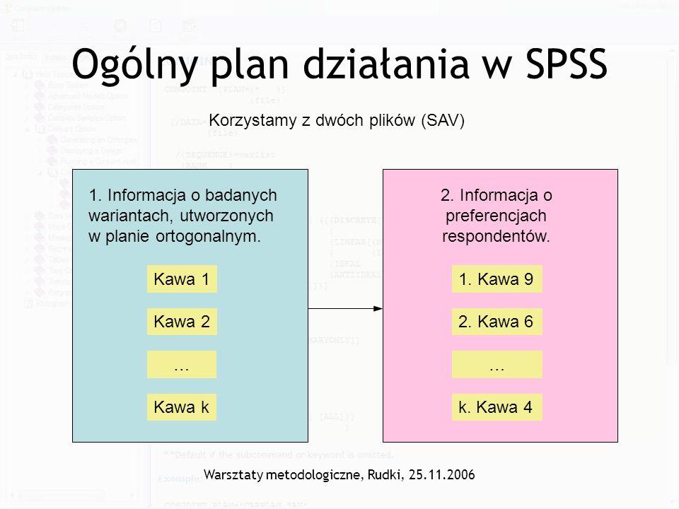 Ogólny plan działania w SPSS