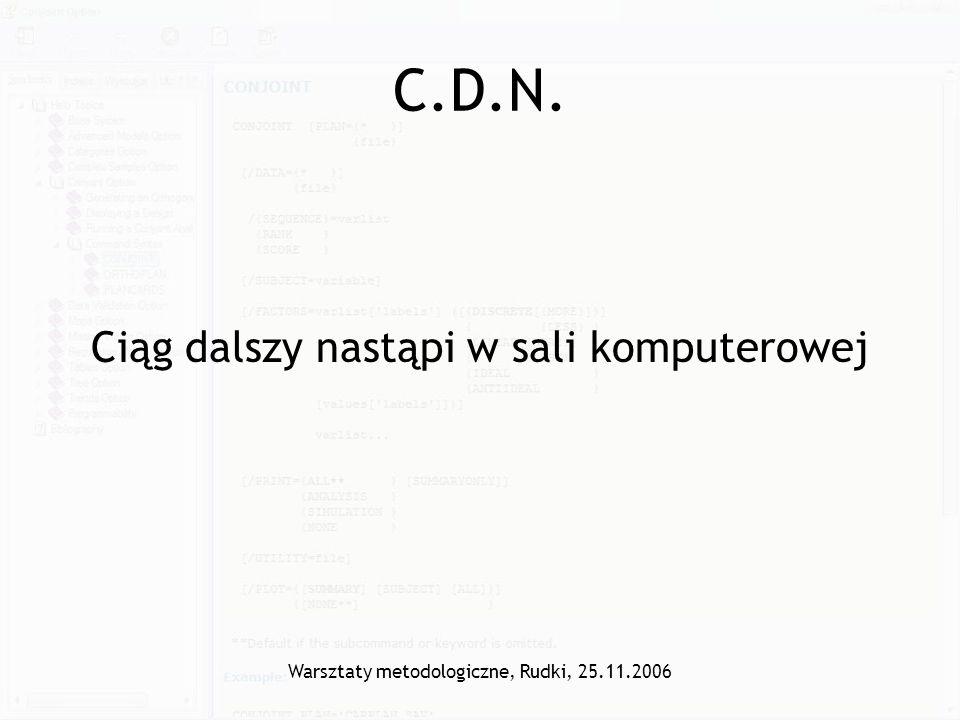 C.D.N. Ciąg dalszy nastąpi w sali komputerowej