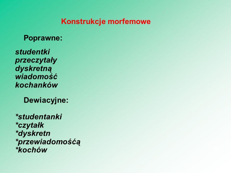 Konstrukcje morfemowe
