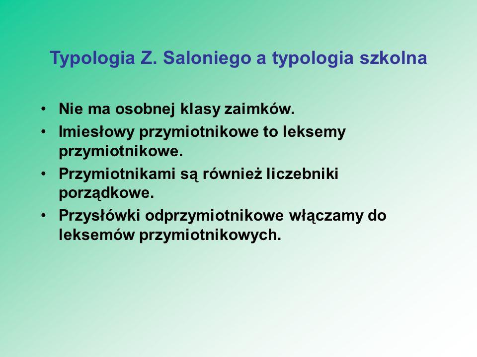 Typologia Z. Saloniego a typologia szkolna