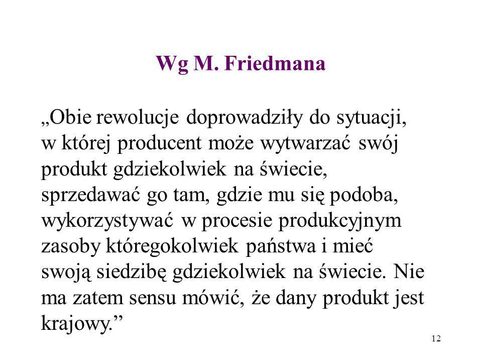 Wg M. Friedmana