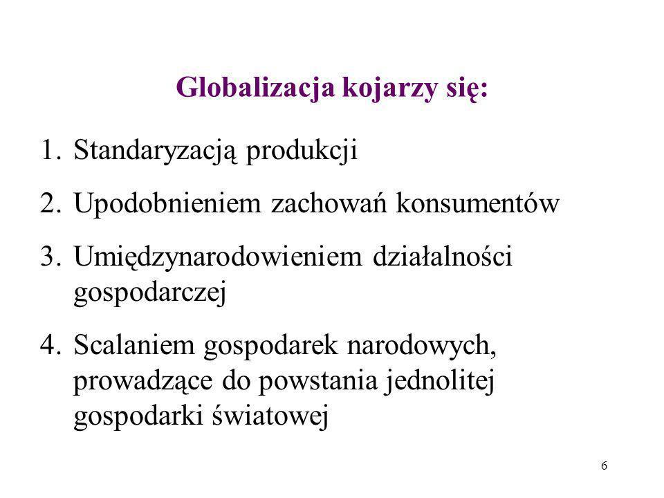 Globalizacja kojarzy się: