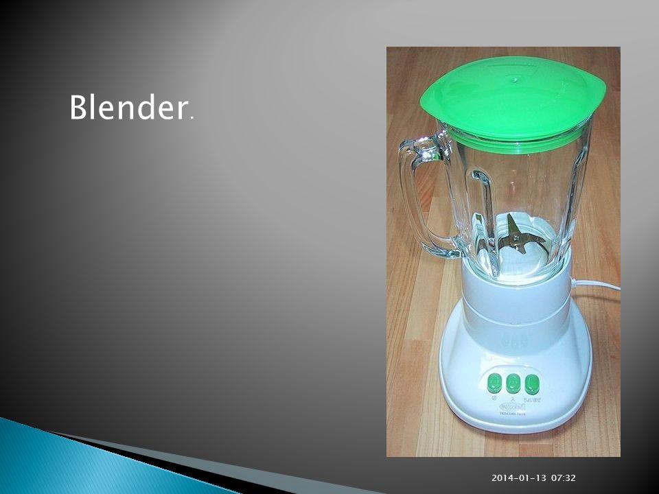 Blender. 2017-03-26 13:30