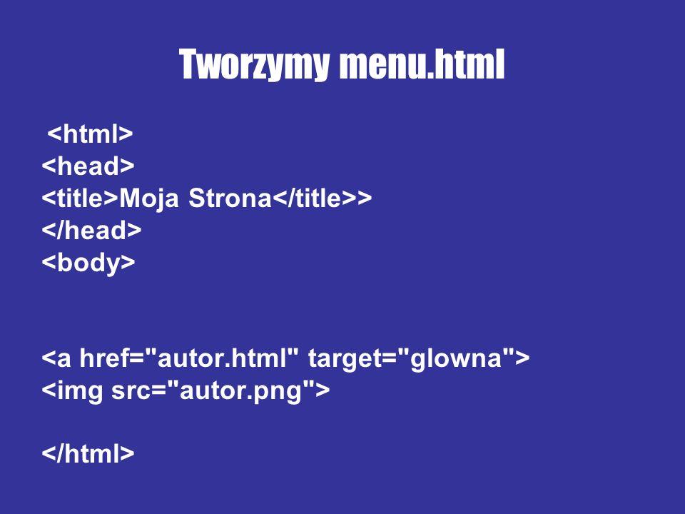 Tworzymy menu.html <head>