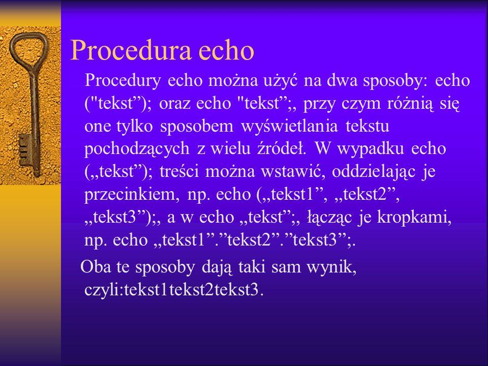 Procedura echo