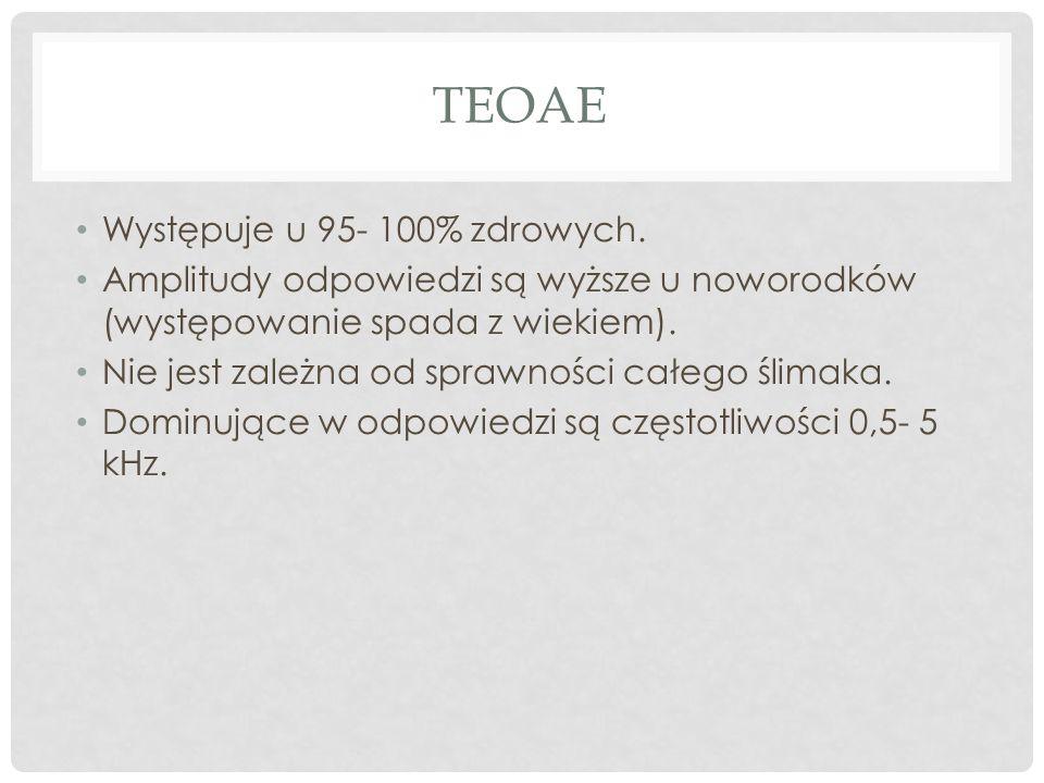 teoae Występuje u 95- 100% zdrowych.